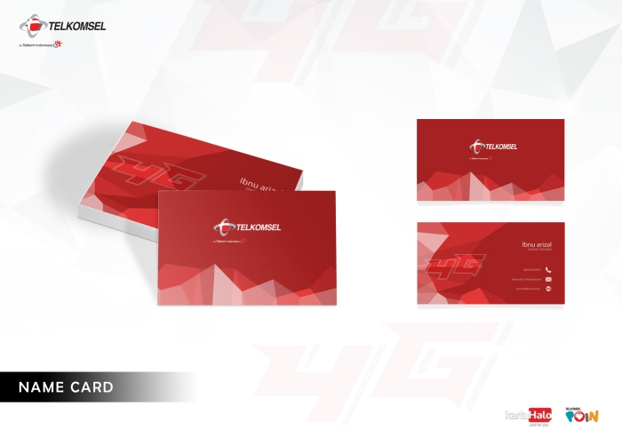 5 name card telkomsel
