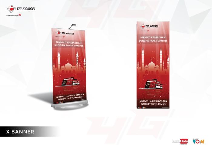 7 x banner telkomsel