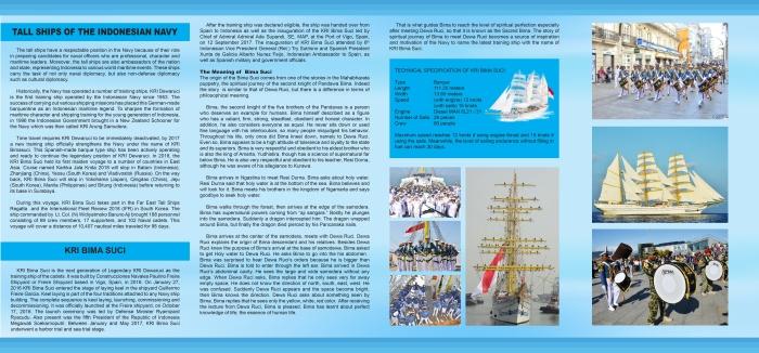 SPRED COVER BROSUR BIMA SUCI THE INDONESIAN NAVY TALL SHIP, 15X28, 31 JULI 2018-2